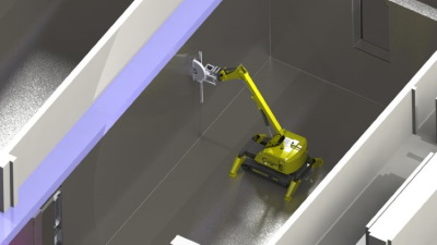 The 12-tonne robot will be equipped with a circular saw (Image: Orano)