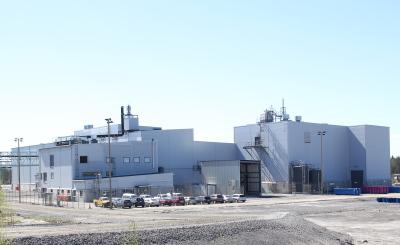 Terrafame's uranium recovery plant. Courtesy of https://www.terrafame.com/