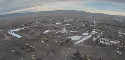 Before and after: Photos of the Plutonium Finishing Plant's main processing facility at the Hanford Site from November 2016, at top, and after the completion of demolition earlier this month. Image: govdelivery.com