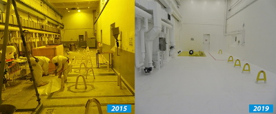 Since 2015, workers on the Hanford Site have cleaned out a portion of the Waste Encapsulation and Storage Facility to prepare to transfer radioactive capsules from an underwater basin to safer, dry storage. Image: govdelivery.com