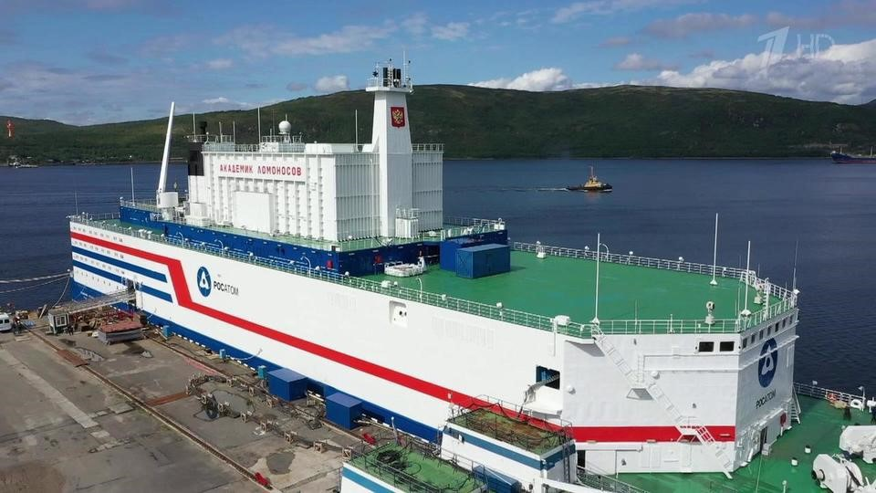 The floating nuclear power unit 'Akademik Lomonosov' © OKBM Afrikantov